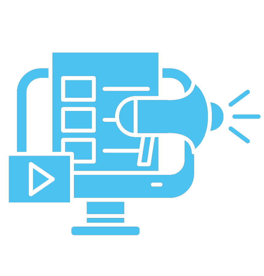 Marketing icon - blue
